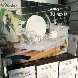 Polder 4 piece Stainless Steel Dish Rack-New
